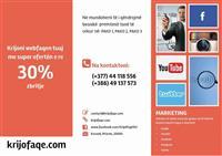Krijoni webfaqen tuaj me ofertën e re 30% ZBRITJE