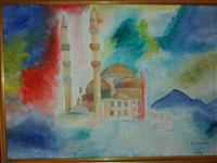 Pikture Stambolli shume ngjyrshem me ngjyra vajt