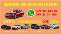 Makina me qera Tirane - Durres - 069 98 444 01