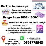 Operator ne gjuhen gjermane 500-1000€ Baza