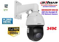 Dahua 2MP 25x Starlight IR PTZ Network Camera 349€