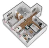 Apartament 1+1 ne Tirane, zona e Ali Demit