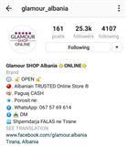 Glamor Albania ne Instagram ofron