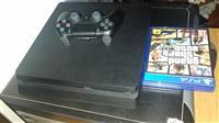 PS4 SLIM bashke me GTA V dhe PES 2017