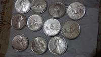11 monedha Argjendi vitet 50 60