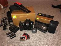 D800 + handle MB-D12 and accessories