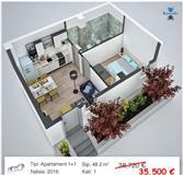 Shitet apartament 1+1 35.500 Euro Kompleksi AnA