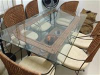 Tavoline Xhami Verande + 6 Karrige