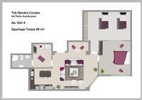 Apartament 2+1 tek Rruga e Kavajes