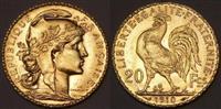 Gjel 20 franga ( monedhe e vjeter flori )