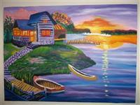Pikture '' Perendimi i diellit ''