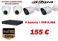 Dahua 4 Kamera 2MP + XVR H.265 Super Oferte 155€