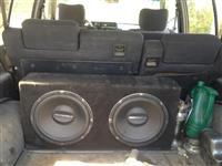 Sub vufer 1200watt dy stereo 200watt