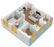Apartament 2+1 per vetem 58,000 €