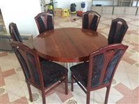 Mobilje kuzhine tavoline ngrenie karrige