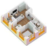 OKAZION: Apartament 1+1 ne Tirane