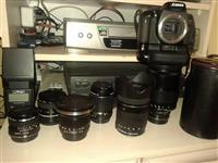Lente canon pentax objektiv aparat camera