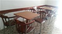 Okazion 9 tavolina dhe 30 karrige