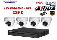 DAHUA 4 Kamera 2MP + XVR 4Ch Vetem 139€