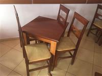 Komplet Tavolin+karrige.