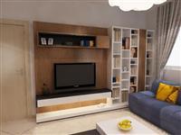 Bibloteke salloni per televizorin