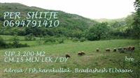 Shitet 3200m2 toke are ne Karakullak, Elbasan.