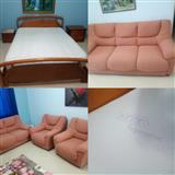 Krevat, dyshek, shtrese dysheku, set kolltukesh