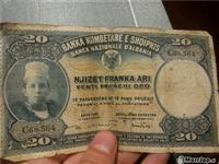 Kartmonedhe 20 franka ari 90 vjecare