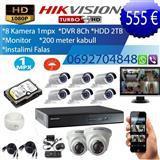 KAMERA 8 COPE + DVR + HDD 2TB + MONITOR + INSTALIM