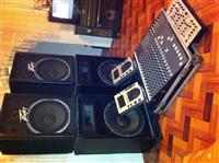 Mixer + 4 bokse + pioneer Dj (100)
