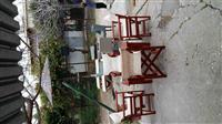 Qadra plazhi shezllone Tavolina karrige