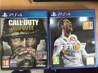 play station 4 fifa 2018 dhe call of duty ww 2