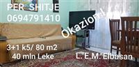 Shitet ap.3+1, 80m2, kati 5, Elbasan.