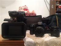 Sony FX1.  Canon 50D